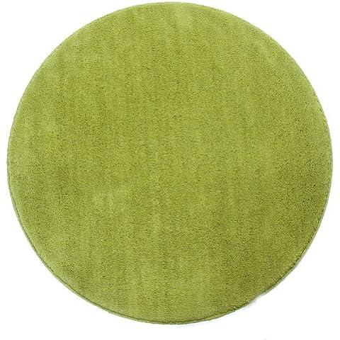 Homescapes Alfombra Redonda Color Verde 150 cm Diámetro