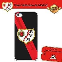 Funda Gel Flexible Rayo Vallecano para iPhone SE iPhone 5 5S, Carcasa TPU, protege y se adapta a la perfección a tu Smartphone. Licencia oficial Rayo Vallecano - Escudo1