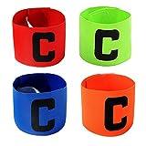 Jiele Multicolor Fußball Captain Armband, Fußball C Standard Gummizug Armband für Kinder, Roll-Klettverschluss, geeignet für viele Arten von Sport (4)