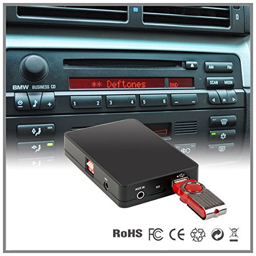 Auto Stereo USB SD AUX MP3 CD Wechsler Adapter Interface BMW 5 Serie E39 7 Serie E38 Business Kassette (Bmw Navigation Cd)