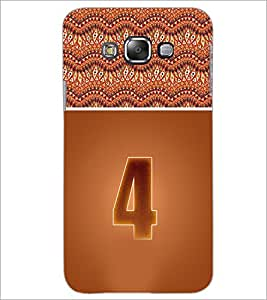 PrintDhaba Numerology Number 4 D-3636 Back Case Cover for SAMSUNG GALAXY E7 (Multi-Coloured)