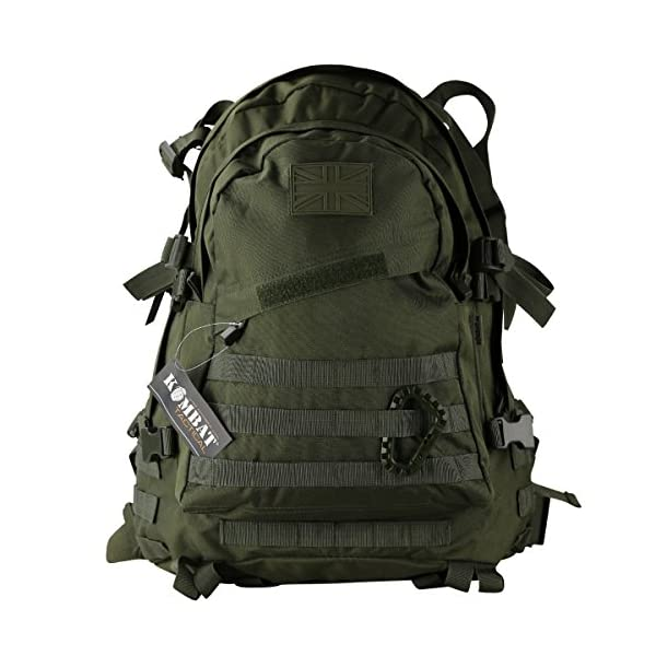 Kombat UK  Spec-Ops Unisex Outdoor Molle Assault Pack Backpack available in Olive Green - 45 Litres 2