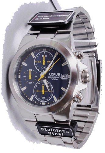 Preisvergleich Produktbild Lorus by SEIKO Chronograph Uhr Armbanduhr Stoppuhr Kratzfestes Mineralglas Wasserdicht