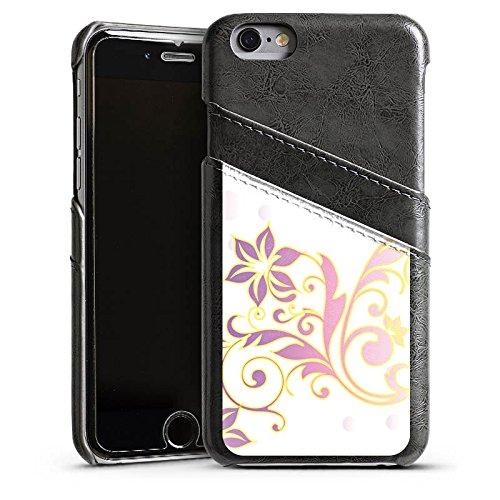 Apple iPhone 4 Housse Étui Silicone Coque Protection Motif floral Ornements Floral Étui en cuir gris