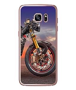PrintVisa Animated Bike High Gloss Designer Back Case Cover for Samsung Galaxy S7 :: Samsung Galaxy S7 Duos :: Samsung Galaxy S7 G930F G930 G930Fd