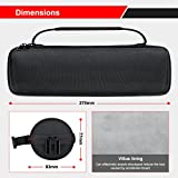 Scorel EVA Hard Carrying Case for UE BOOM 2 Speaker Waterproof Anti-dust, Fits USB Cable and Charger (Black)