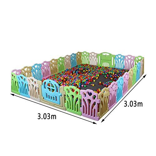 GYH Safety Fence,Guardrail Learning Walking Fence Playpens Crawling Fence Indoor Toys Environmental Protection ( Size : 3.03*3.03m )