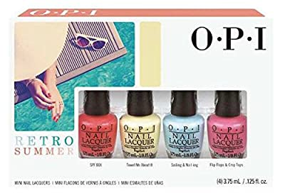 OPI Retro Summer Collection Mini Bottles Nail Lacquer, Pack 4