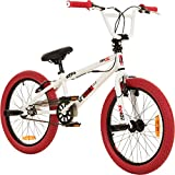 deTOX 20 Zoll BMX JUICY Rotor Pegs Freestyle Bike, Farbe:weiss/rot