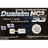 2-phones-in-1 2in1-ncn Dual Sim Adapter NC2 N Version für Samsung Galaxy Note 2 preiswert