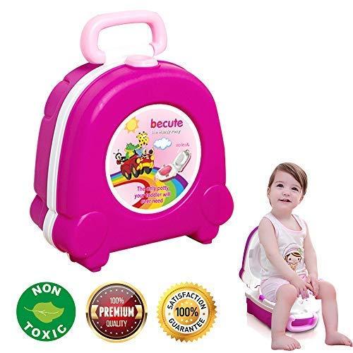 BeCute - Vasino portatile da viaggio per bambini e bambine, per campeggio e viaggi in auto, con strategia di addestramento al vasino.