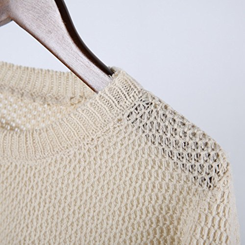 Etosell Femme Manches Des Longues Casual Alien Sweatshirt Imprime T-Shirts Blanc 01