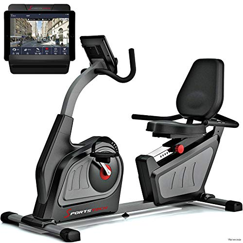 Sportstech Vélo d'Appartement Assis Semi-allongé ES600 ergomètre Cardio, Commande par Application...