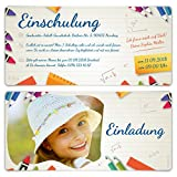 10 x Einschulung Einladungskarten Einschulungskarten Schulanfang Set - Heftnotiz