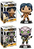 Funko POP! Star Wars Rebels: Ezra + Zeb - Vinyl Bobble-Head Figure Set NEW