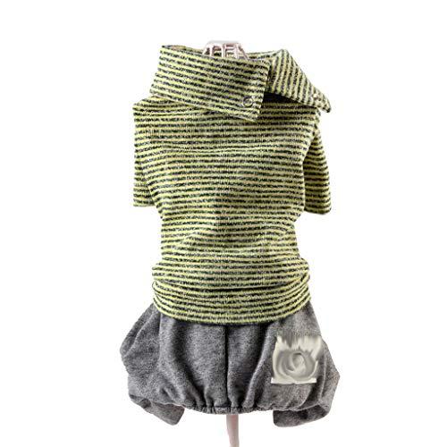 QLMS Frühling vierbeinige Kleidung Frühling und Herbst lässig Paare Teddy als Xiong Keji Bomei Hund Kleidung Welpen Welpen Kleidung (Color : B, Size : XXL) (Super Süße Paare Halloween Kostüme)