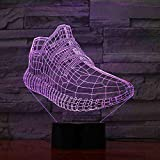 CDBAMX 3D Shoes Modelling Led Night Lights 7 Colors Changing Creative...
