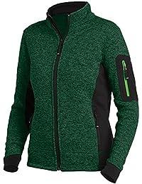 FHB Strickfleece Jacke atmungsaktiv, Farbe:grün;Größe:M