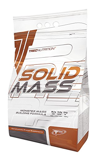 Trec Nutrition Solid Mass Gainer Kohlenhydrate Masseaufbau Muskelaufbau Muskelaufbau Bodybuilding (5800g Strawberry - Erdbeer)