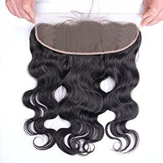 Beata Hair Free Part 13x4 inch Body Wave Lace Frontal Closure Lightly Bleached Knots With Baby Hair 08inch