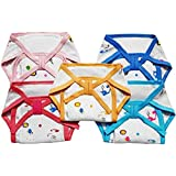 My NewBorn Baby Cotton Cushioned Nappies- Pack Of 5