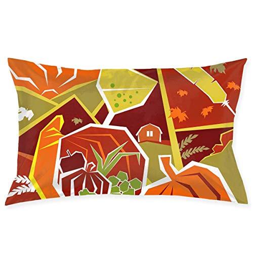 throw pillowcase Thanksgiving Day Vector Graphics Kissenbezug - Zippered Kissenbezug, Pillow Protector, Best Pillow Cover - Standard Size 20x30 Inches, Double-Sided Print (16x28 Kissen Legen)