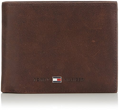 Tommy Hilfiger Herren JOHNSON CC FLAP AND COIN POCKET Geldbörsen, Braun (Brown 041), 13x10x2 cm -