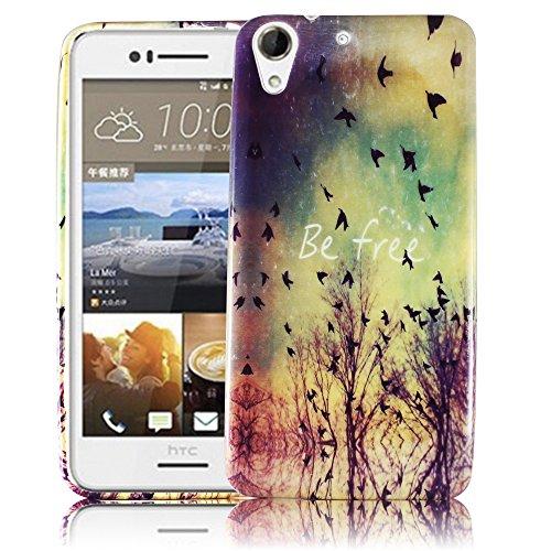 HTC Desire 728G BE FREE Silikon Silikon Schutz-Hülle weiche Tasche Cover Case Bumper Etui Flip smartphone handy backcover Schutzhülle Handyhülle thematys®