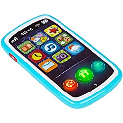 winfun- Teléfono móvil Musical para bebés, Color Azul (ColorBaby 44523)