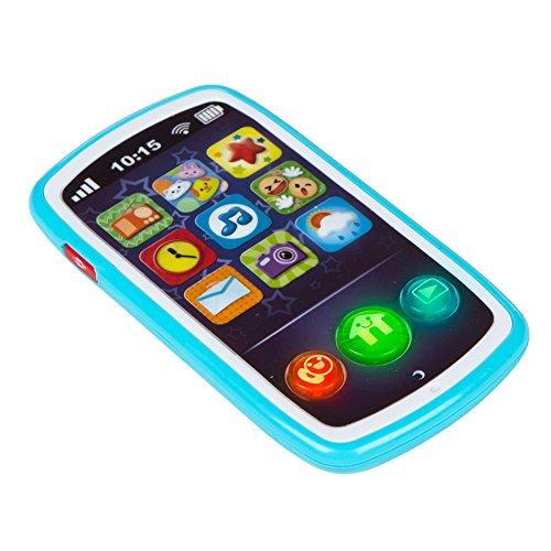 WinFun Teléfono móvil Musical para bebés Color Azul...