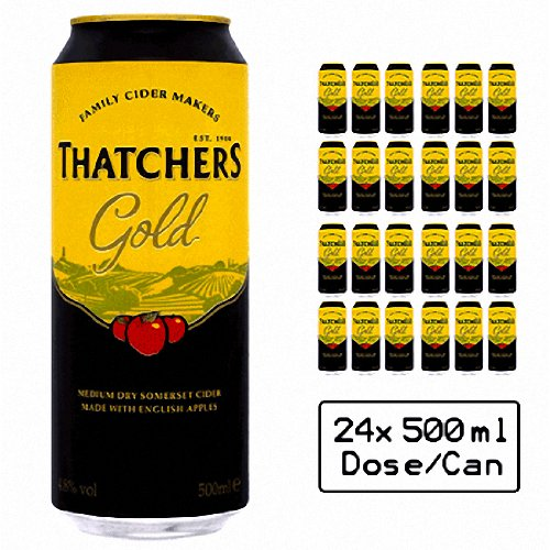 Thatchers Gold Medium Dry Somerset Cider 24x 500ml