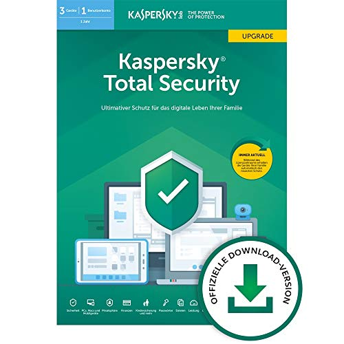 Kaspersky Total Security 2019 Upgrade | 3 Geräte | 1 Jahr | Windows/Mac/Android | Online-Code | Download