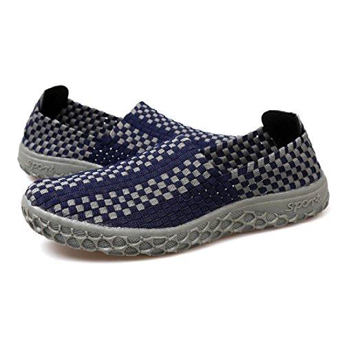 Hommes Chaussures décontractées Été Mode portable Respirant Tisser Des sandales navy blue