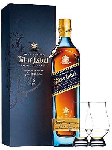 #Johnnie Walker Blue Label Blended Scotch Whisky 0,7 Liter + 2 Glencairn Gläser#