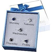 Herren Ohrringe Set für Montag bis Freitag Ohrringe Set für eine Woche auch schöne Weihnachtsgeschenke für Freunde preisvergleich bei billige-tabletten.eu