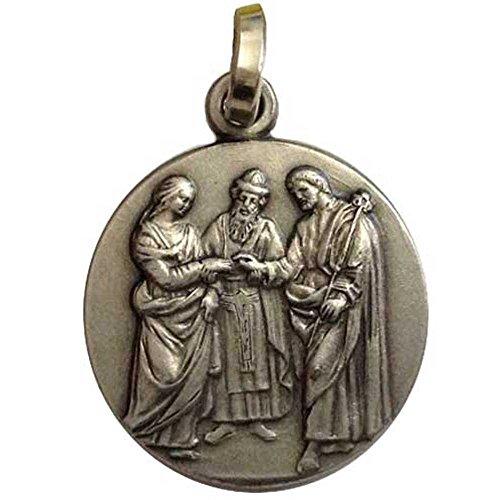 'Medaille Hochzeit von Maria und Josef in silber 925Tausendstel-925Sterling Silver Marriage Medal - Maria Medaillen Von