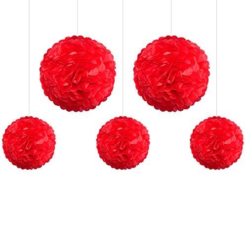 5er-mix-pom-poms-einsseinr-3x-medium-25cm-2x-large-35cm-rot-hochzeit-wedding-pompons-dekokugel