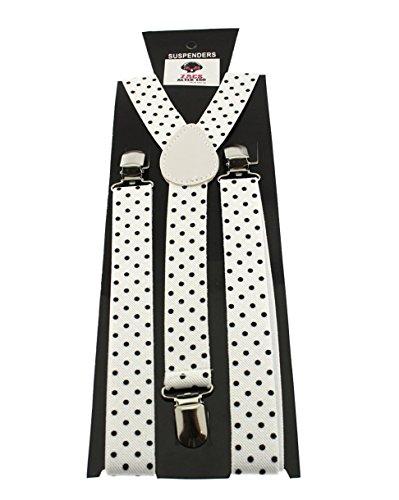 Zac's Alter Ego ® homme/femme à pois Bretelles de Pantalon réglables 25 mm Blanc - Blanc