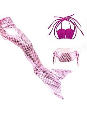 Pequeño Sirena Bikini Conjunto Trajes De Baño Niño Sirena Cola Cosutme Swimsuit Cosplay 3 Piezas Nadando Trajes...