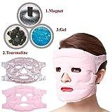 Máscara de belleza reutilizable Winnes, antiedad, cuidado de la piel, terapia de frío, máscara magnética antialérgica, mascarilla de masaje facial relajante, hidratante y rejuvenecedora, color rosa