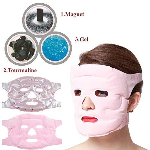 Winnes Gelmaske Schlafmaske Gesichtsmaske Gesichtsmaske Gelmaske Schlafmaske Augenmaske Kaltkompresse Gesichtsmaske Erfrischende Schönheit für Gesicht Augenmaske für Entspannung und Linderung Thermal Freezable Gel