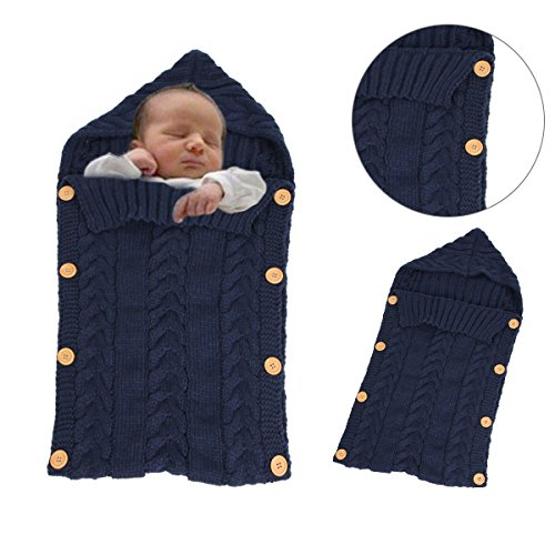 Sacco a pelo invernale per bambini 2.5 Tog - Sunroyal Maglia di lana sacco  nanna Swaddle sacco nanna per bambini 0 – 12 mesi neonato Wrap coperta per  ... 4bdf0110777a