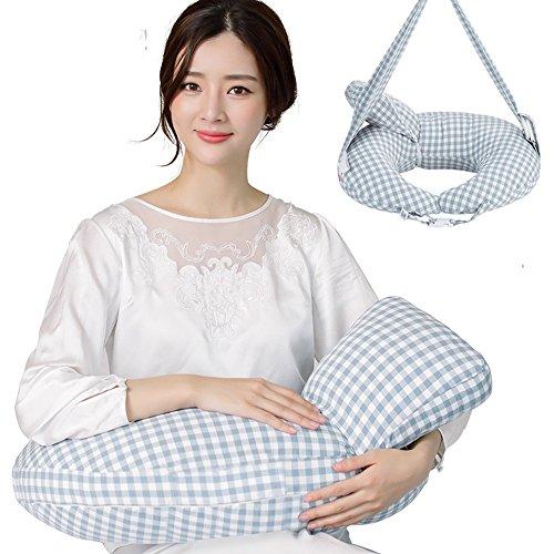QFFL Nourrir les oreillers jumeaux alimentation artefact allaitement oreiller femmes enceintes oreiller corps oreiller 6 couleurs disponibles 60 * 48 cm Oreillers d'alimentation (Couleur : E)