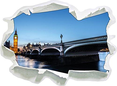 Ponte di Westminster e Il Big Ben, di Notte, di Carta 3D Autoadesivo della Parete Formato: 92x67 cm Decorazione della Parete 3D Wall Stickers Parete Decalcomanie