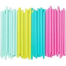"""IKEA Trinkhalme """"Sötvatten"""" 100-er Set Strohhalme mit breitem 8mm Durchmesser - hellrosa, hellgrün, hellblau gemischt"""