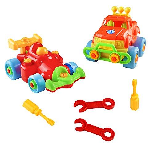 Fajiabao Vehicule Construction Jeu Assemblage Enfant Jouet Voiture avec 2 Pcs Pour Garcon Fille 3 Ans 4 Ans 0603981390414
