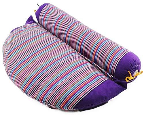 Coussin de yoga   Coussin de méditation   Yoga Bolster 2en1   Bio remplissage Sarrasin   Rouleau oreiller   Pilates-Bolster   oreiller de relaxation