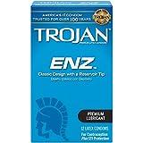 Trojan Condom ENZ Lubricated, 12 Count by Trojan