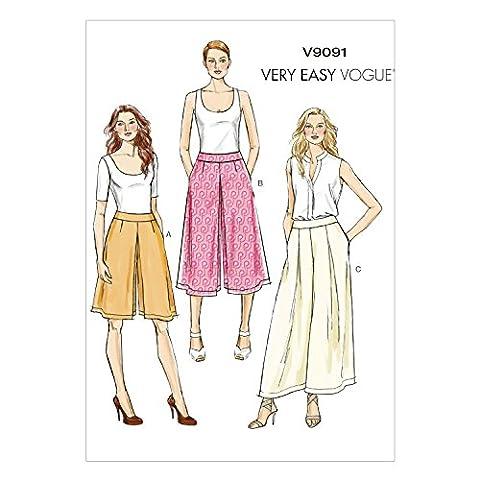 Vogue Patterns V9091A5 6/8/10/12/14 Culottes et Pantalon pour femme