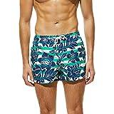 UJUNAOR Shorts da Uomo Tronchi da Bagno Quick Dry Beach Surfing Running Nuoto Pantaloncini,S/M/L/XL(Large,Verde)